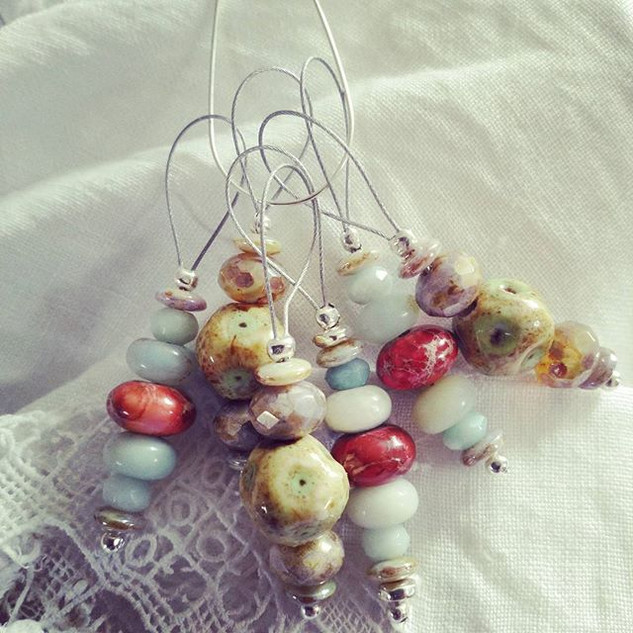 Some pretty stitch markers I made. Some
