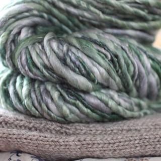 Merino, silk and alpaca. Hand dyed  then