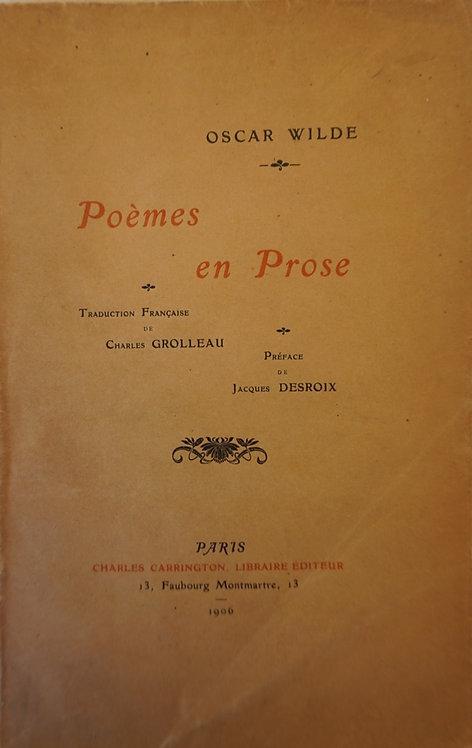 """WILDE Oscar """"Poèmes en prose"""""""