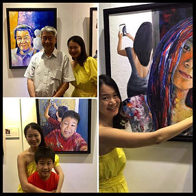 missgek, a singaporean artist, who paints whimsical paintings under coralstone art gallery.