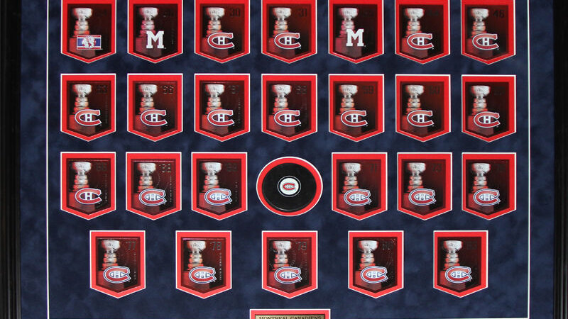 Montreal Canadiens Stanley Cup Panini Cards NHL Hockey Collector Frame