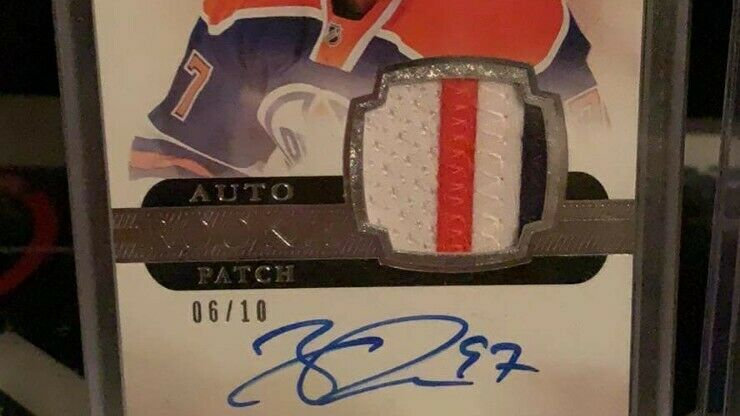 18 - 19 The CUP Connor McDavid Rookie Patch Auto - # 6/10
