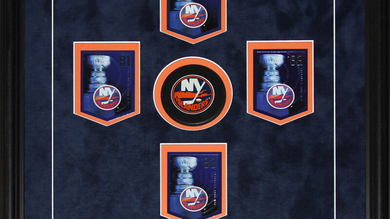 New York Islanders Stanley Cup Panini Cards NHL Hockey Collector Frame