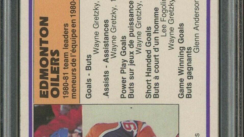 1981-82 O-Pee-Chee OPC Hockey #126 Wayne Gretzky HOF PSA 10 GEM MINT
