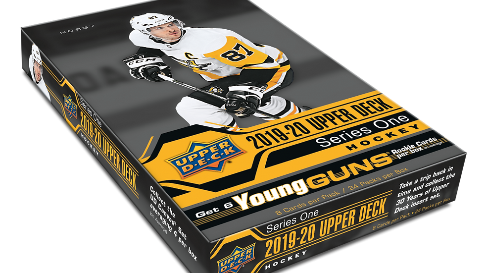 2019/20 Upper Deck Series 1 Hockey Hobby Box Factory Sealed