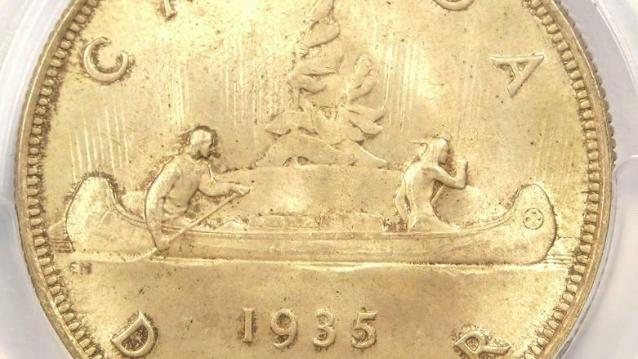 1935 Canada George V Dollar $1 - PCGS MS66 (Gem BU) - Rare in MS66 Grade!