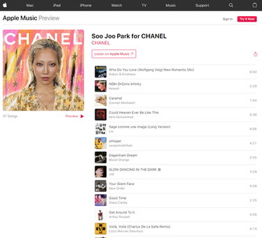 APPLE MUSIC | PLAYLIST for CHANEL