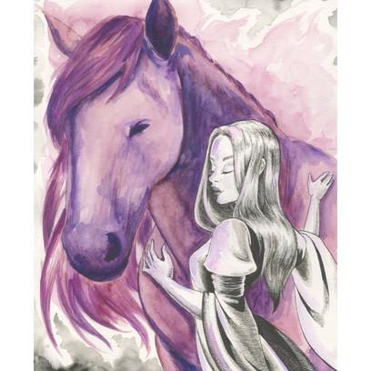 Wine Label Horse
