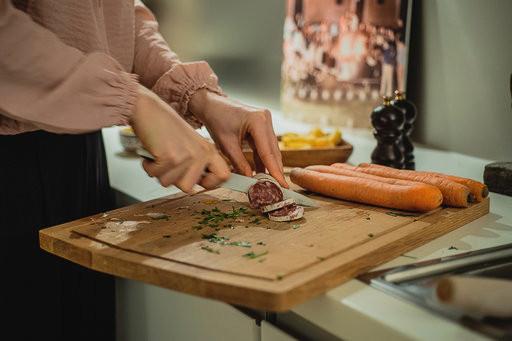 Planche en bois à viande