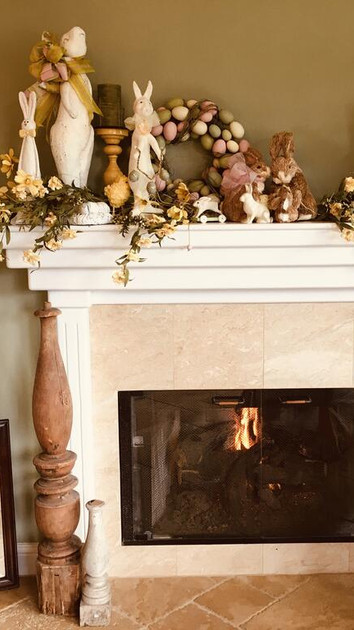 A Cozy Springtime Fireplace
