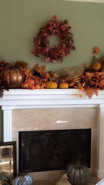 Our Fireplace in Fall