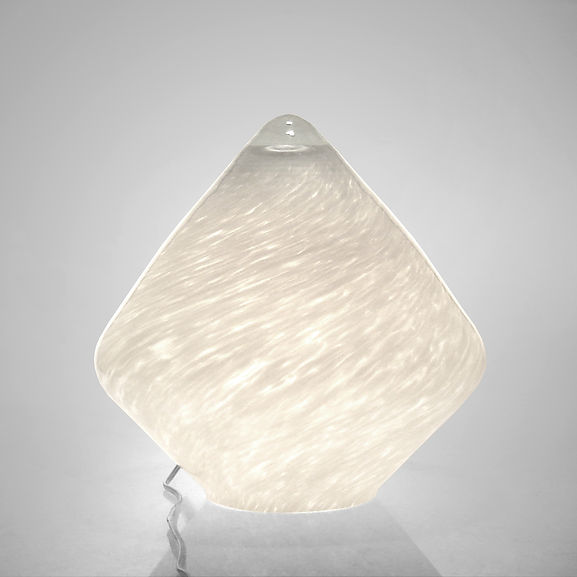lamp ALLURE Large in White Glass Grains.