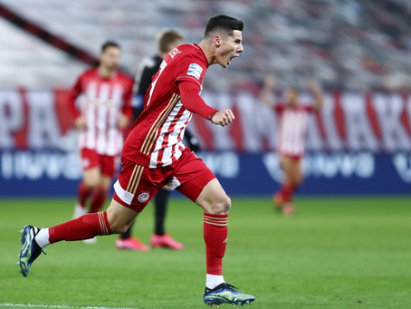Sensational Marios Vrousai for Olympiacos' huge victory vs. PAOK