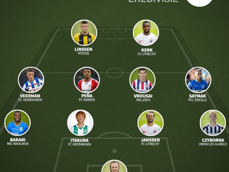 Marios Vrousai was named to Eredivisie 'Team of the Week'