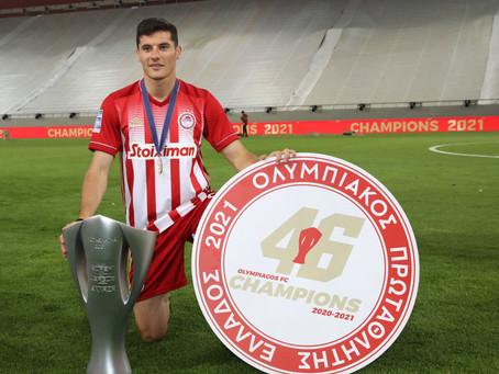 Champion, Marios Vrousai, with Olympiacos!