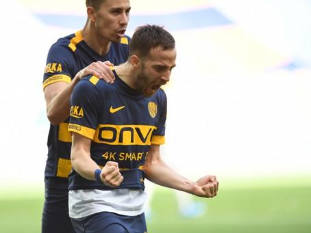Stelios Kitsiou scored an amazing goal with the left-foot for Ankaragucu