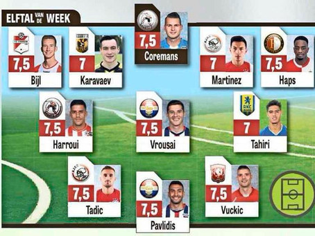 """Vrousai was named to Eredivisie """"Team of the Week"""""""