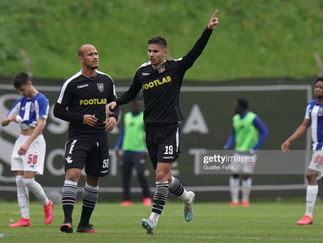 Voilis scored a powerful header against FC Porto II