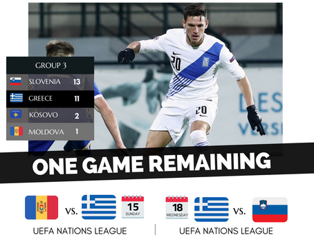 Chatzigiovanis created a big chance in 15 minutes for Greece