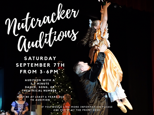 Nutcracker auditions Poster.png