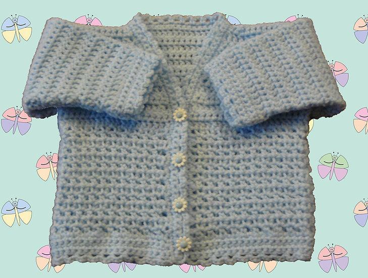 Baby Crochet Cardigan Pattern DK (Birth - 6 years) (1056)