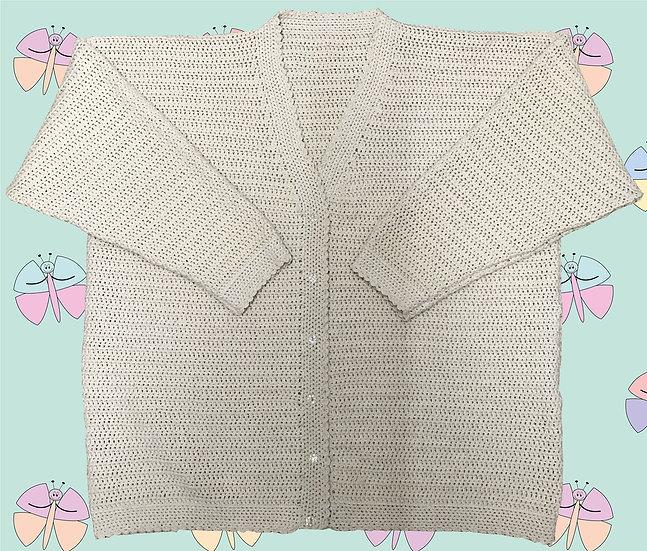 Easy Ladies Crochet Cardigan Pattern Beginners DK (Sizes 81cm-112cm) (1037)
