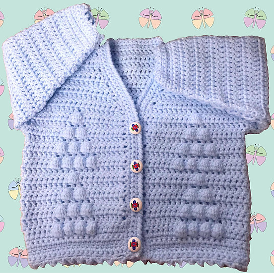 Easy Baby Crochet Pattern in DK for Cardigan (3 Months - 6 years) (1018)