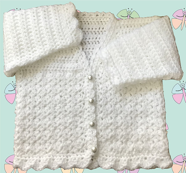 Delightful Baby Crochet Pattern for Cardigan in DK (Birth-6 years) (1032)