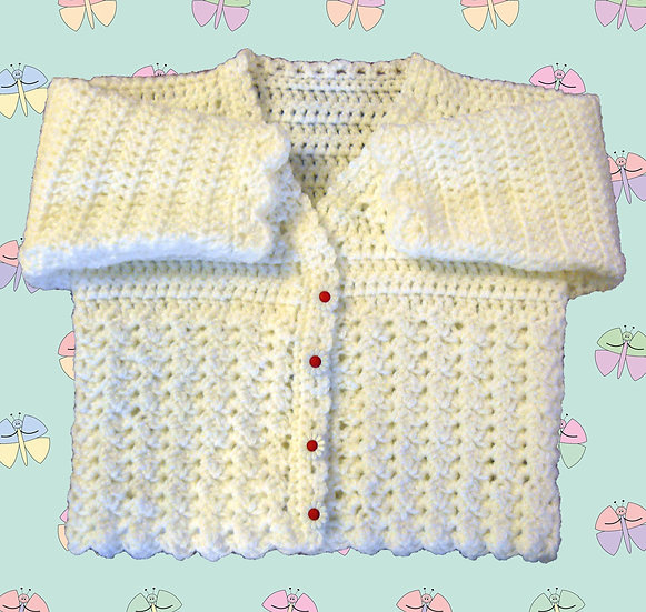 'Amelia' Crochet Cardigan Pattern for Baby in DK (Sizes Birth-6 years) (1060)