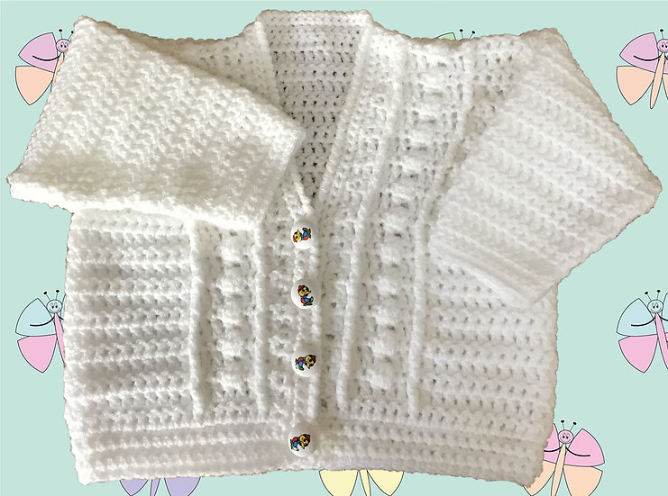 Easy Baby Crochet Pattern for a Cardigan in DK (Sizes Birth-6 years) (1036)
