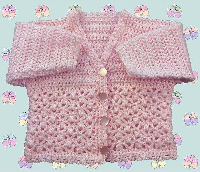 Pretty Baby Crochet Cardigan Pattern in DK (Sizes Birth-6 years) (1048)