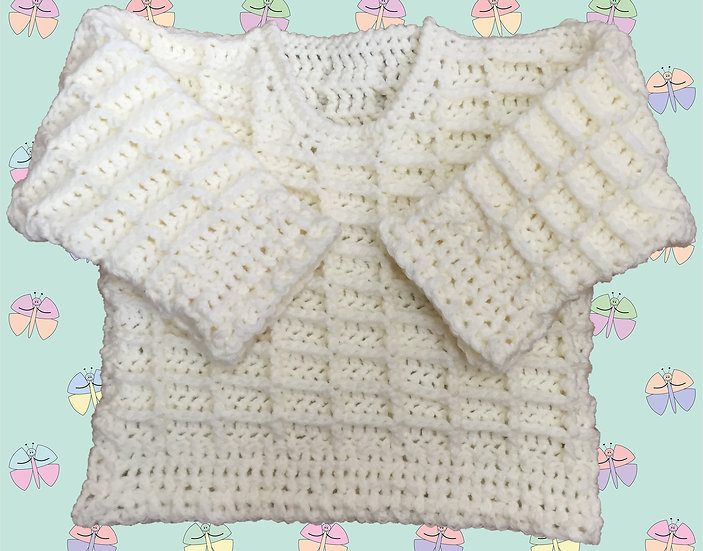 Aran Sweater Crochet Pattern for Baby (Sizes Birth-6 yrs) (1001)