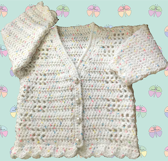 Attractive Baby Crochet Pattern for Cardigan DK (Birth - 6 years) (1011)