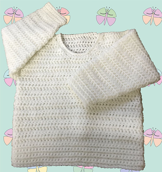 Easy Baby Crochet Pattern For A Sweater in DK (Sizes Birth-6 years) (1023)