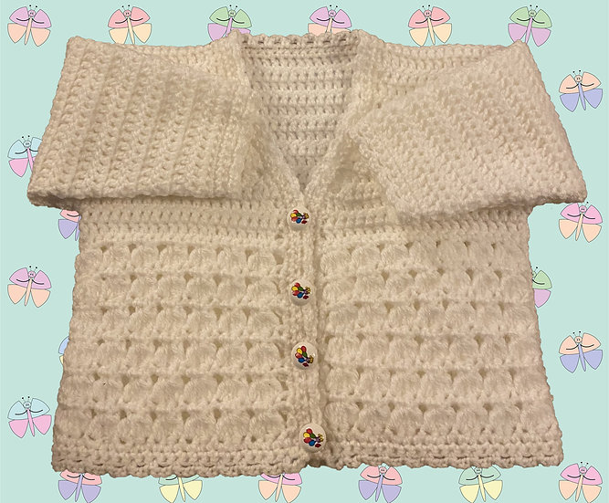 Easy Baby Crochet Pattern in DK for Cardigan (3 Months - 6 years) (1046)