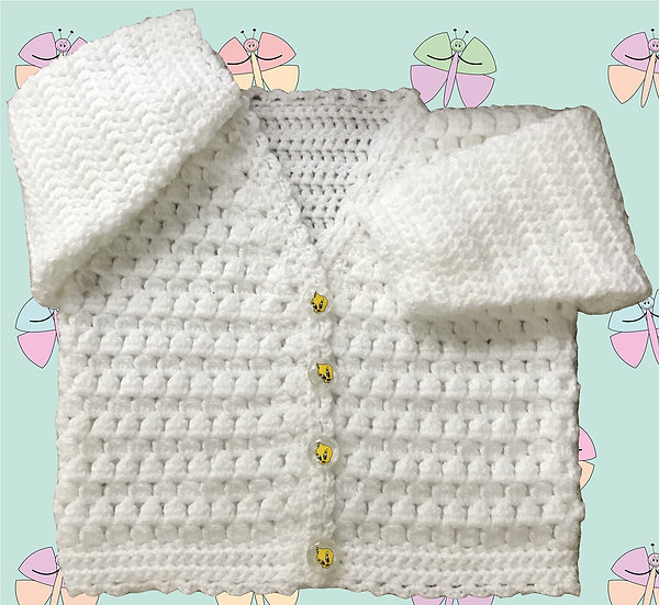 Lovely Baby Crochet Pattern for Cardigan DK (Sizes Birth-6 years) (1038)