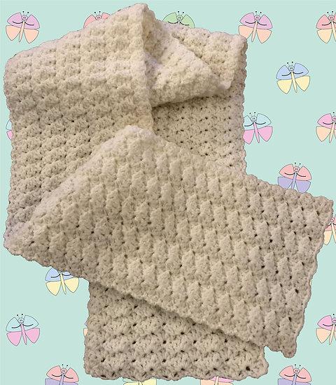 Crochet Pattern for Scarf in Aran Yarn (1020)