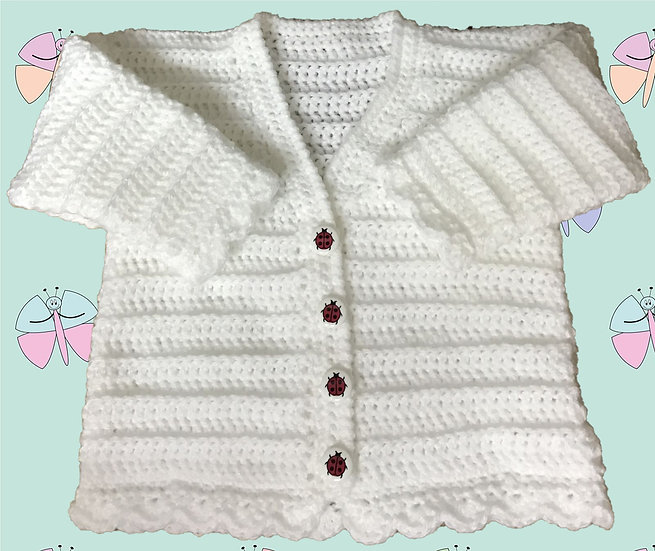 Easy Crochet Pattern for Baby Cardigan in DK (Sizes Birth-6 years) (1009)