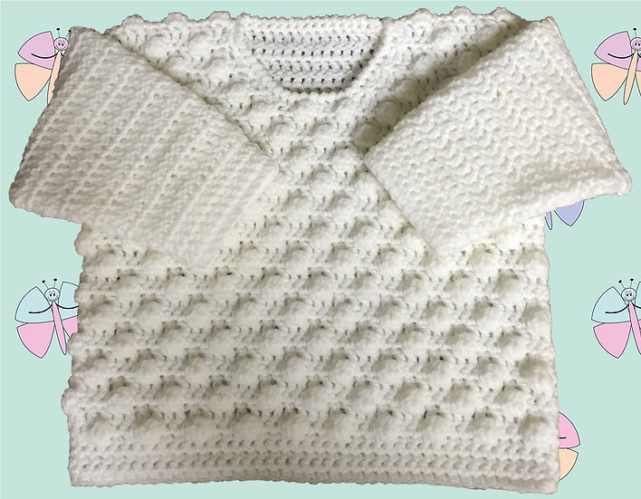 Baby Crochet Pattern for Bobble Sweater in DK (Sizes Birth-6 years) (1031)