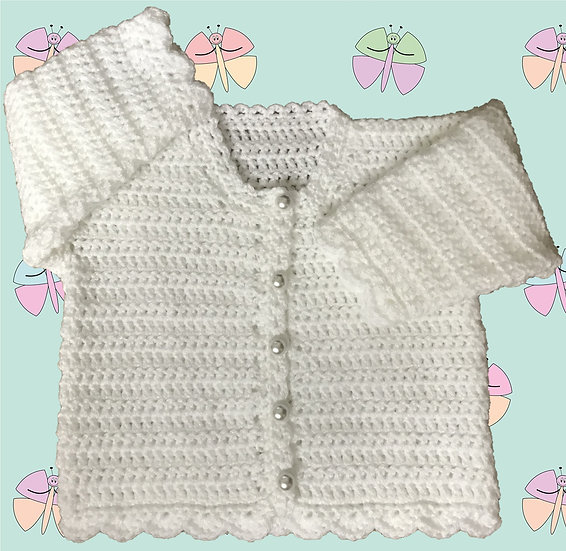 Easy Baby Crochet Cardigan Pattern in DK (Sizes Birth-6 years) (1033)