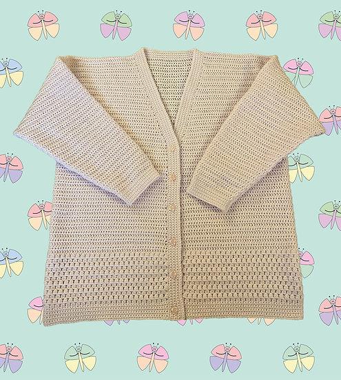 Easy Ladies Crochet Cardigan Pattern Beginners DK (Sizes 81cm-112cm) (1049)