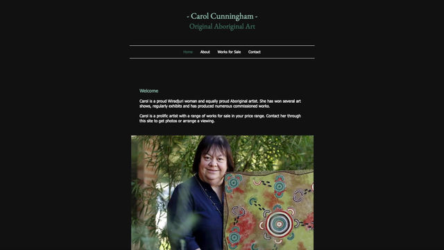 This talented artist wanted a simple site she can manage herself