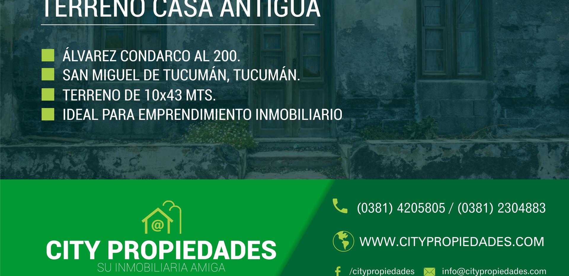 CITY PROPIEDADES ALVAREZ CONDARCO AL 200