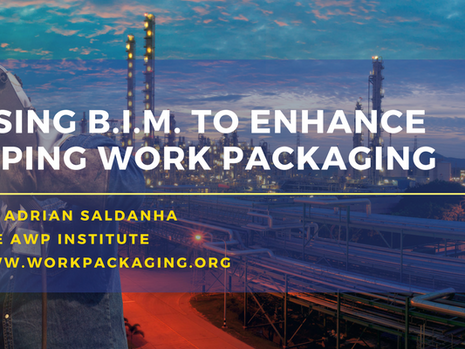 Using Building Information Modeling (BIM) to enhance Work Packaging for Piping