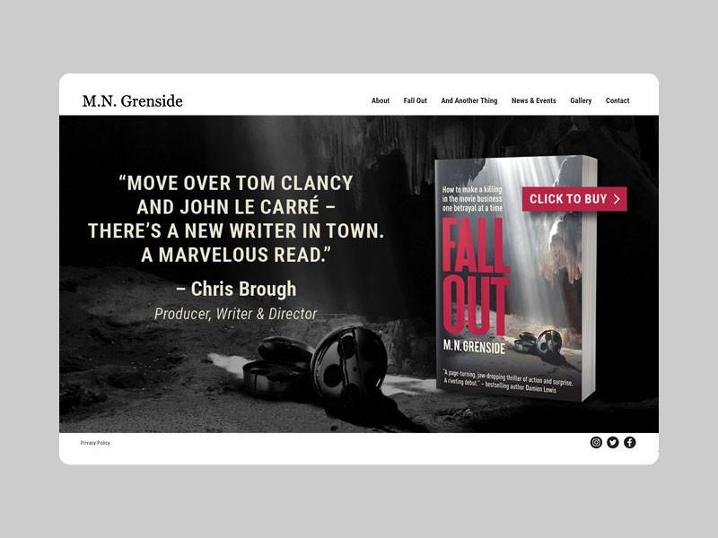 Author website home