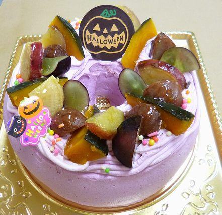 紫いものシフォンケーキ