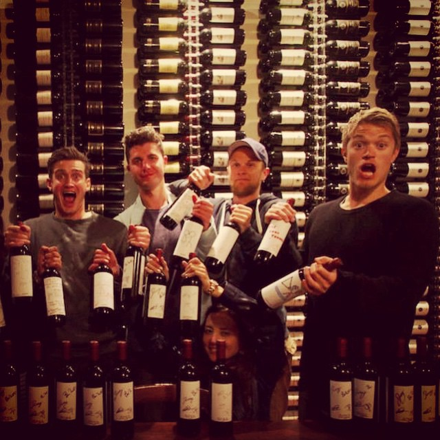 #flashbackfriday To when the _buriedlife hid wine in our cellar! #livingthedream #greatguys #wonderw