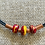 Thumbnail: Lamp work beads with leather necklace