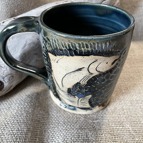 Carved Mug Fish or Whale