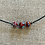 Thumbnail: Lamp work beads with leather choker
